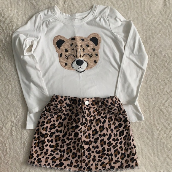 The Children's Place leopard print outfit